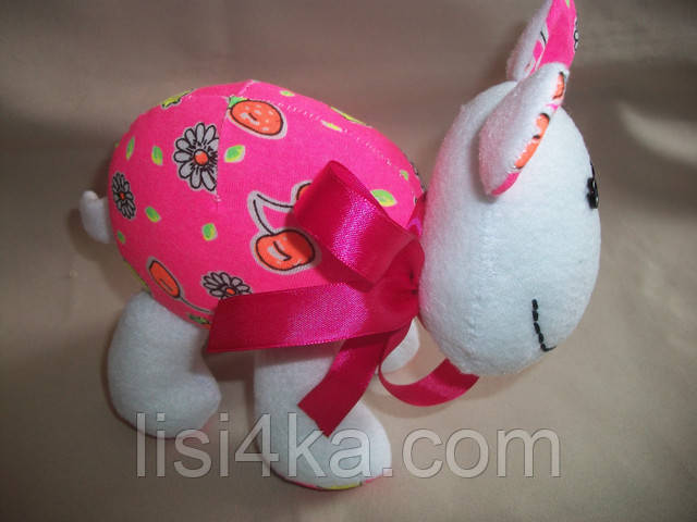 Мягкая игрушка розовая текстильная овечка