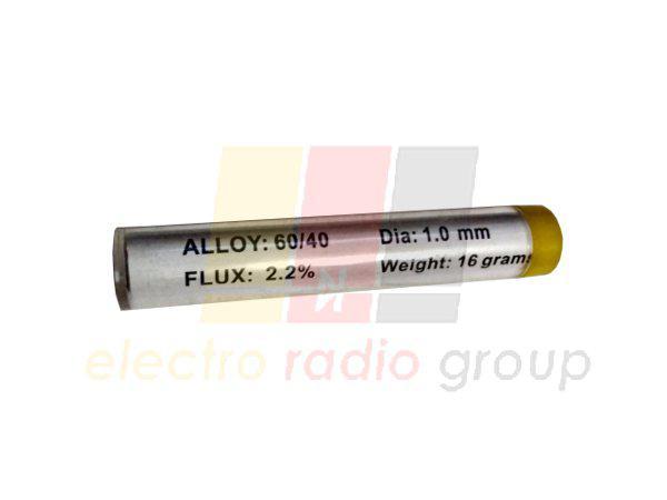 Припой оловянно-свинцовый ПОС-60, диам.-1мм, 16гр., в колбе