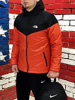 Ветровка мужская черно-оранжевая