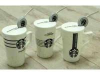 Кружка с крышкой и трубочкой Старбакс Уайт-хол, 350 мл ( чашка Starbucks ), фото 2