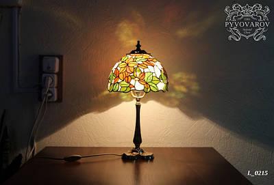 Витражная лампа на стол