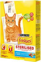 Корм Friskies Фрискис Sterile для стерилізованих кішок котів лосось з овочами, 10 кг