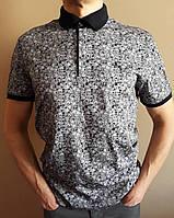 Мужская рубашка серого цвета с коротким рукавом