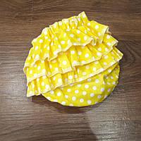 Трусики для девочки (размер от 3 мес до 1.5 года) — Желтые в крапинку, фото 1
