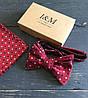 Набор I&M Craft галстук-бабочка + платок в пиджак (011114)