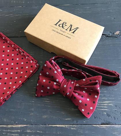 Набор I&M Craft галстук-бабочка + платок в пиджак (011114), фото 2