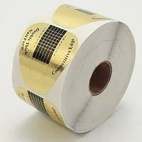Форма для наращивания ногтей , золотая, широкая, 10 шт.