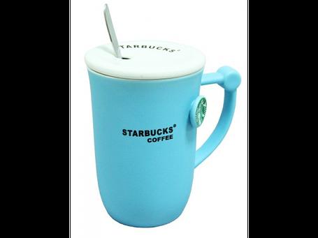 Чашка с крышкой и ложечкой Старбакс Starbucks Релиф, 360 мл, фото 2