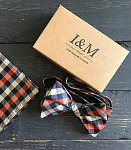 Набор I&M Craft галстук-бабочка + платок в пиджак (011120)