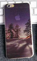 """Силиконовый чехол """"Зимняя ночь"""" для iphone 6/6S, фото 1"""