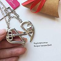 "Кулон ""Ключ от сердца"" для влюбленных, пара (набор)."