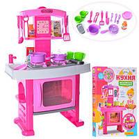 Интерактивная кухня Limo Toy  со звуковыми эффектами и аксессуарами Розовая (661-51)
