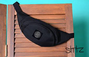Поясная сумка Stone Island черного цвета (люкс копия)