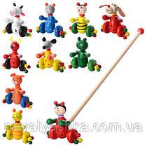 Деревянная игрушка Каталка на палочке каталочка детская, MD 0024, 000030