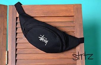 Поясная сумка Stussy черного цвета