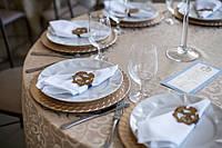 Свадебная монограмма на салфетку