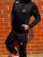 Спортивный костюм мужской, весенний, осенний черный