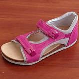 Ортопедичне взуття босоніжки дитячі для дівчинки Ortex коричневі, фото 5