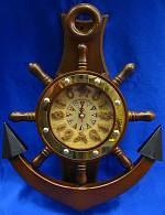 Часы якорь с маятником (41,5х31х6,5 см)