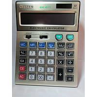 Большой бухгалтерский калькулятор Citizen SDC-8177, двойное питание, 12 разрядов, дополнительные функции