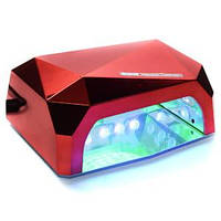 LED+CCFL Lamp Diamond 36W RED