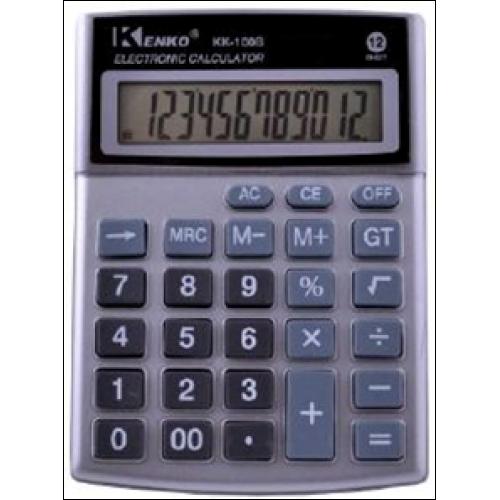 Kenko 100А/100В, простой калькулятор, настольный, средних размеров 14*10 см, звуковая функция, коррекция числа