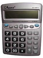 Настольный калькулятор Kenko KK-1048, расчет маржи, коррекция числа, проценты, клавиша 00, средних габаритов, фото 1