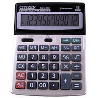 Калькулятор настольный, бухгалтерский Citizen 685, большой, с металлическим покрытием и двойным питанием
