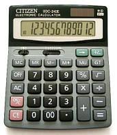 Калькулятор учетно-бухгалтерский Citizen SDC-240E, металлический верх, клавиши - пластик, двойное питание