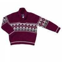 """Вязаный шерстяной свитер для мальчика """"Бордо"""",Girandola"""
