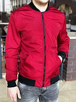 Бомбер весенний мужской, цвет красный, фото 1