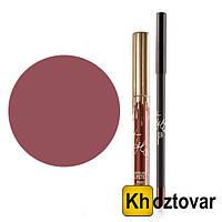 Набор жидкая матовая помада + карандаш для губ Kylie Birthday Edition Posie K