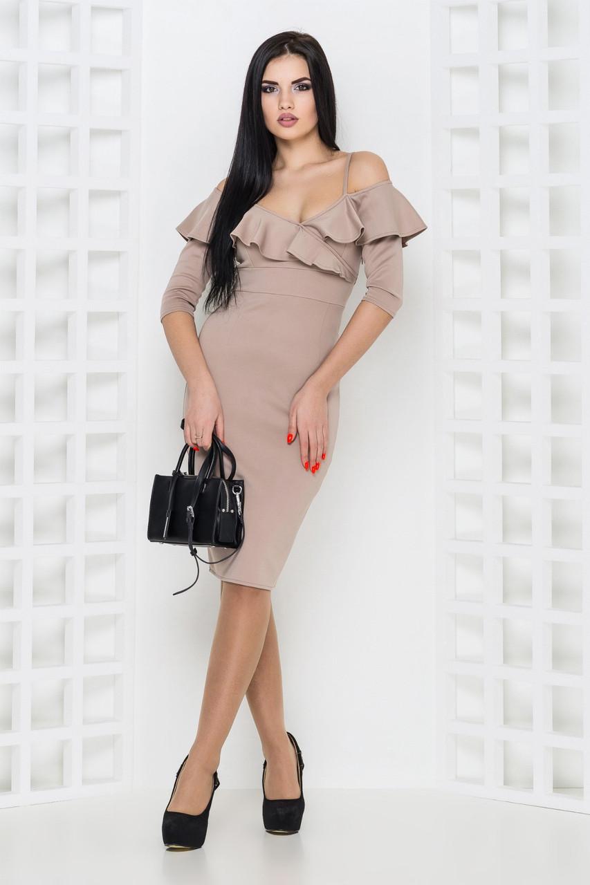 Платье Линда 1 бежевый