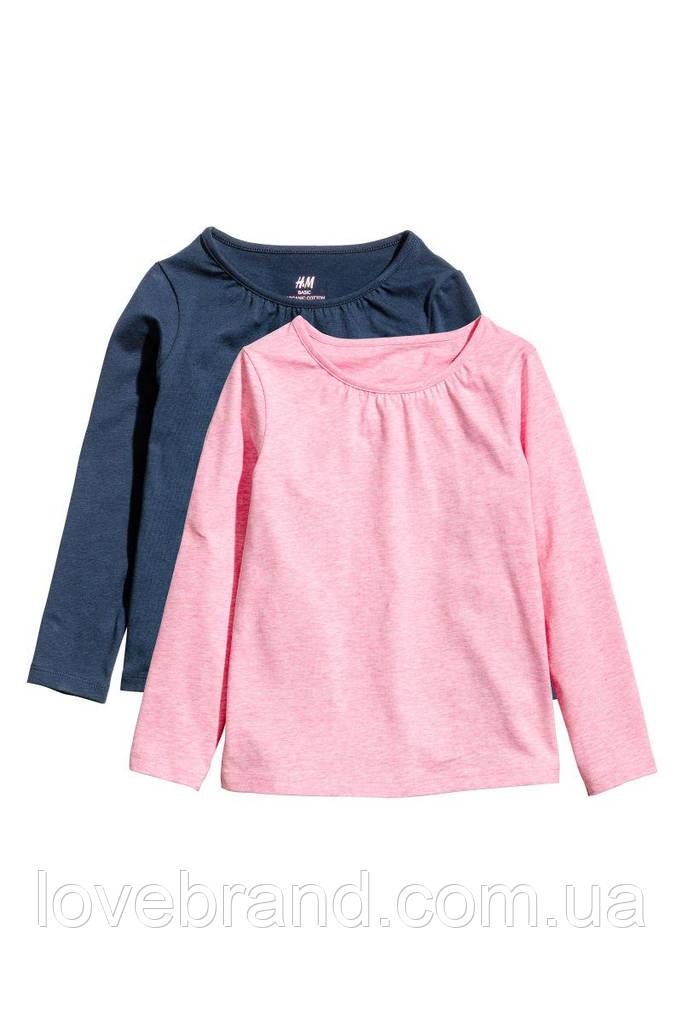 Набор з 2-х регланов для девочки H&M розовый и синий