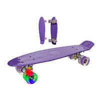 Скейт Profi Penny Board LED MS0848-2 Фиолетовый
