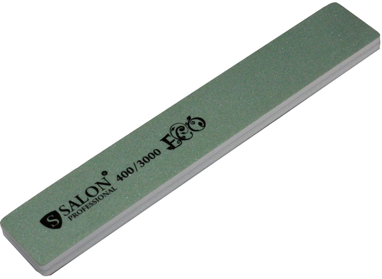 Пилки маникюрные SALON PROFESSIONAL (400/3000) для полировки ногтей серые, широкие, эко