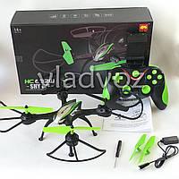 Радиоуправляемый квадрокоптер 2,4 gz Led 4 винта drone HC632W черный