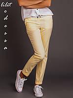 Брюки-Чинос желтые, фото 1