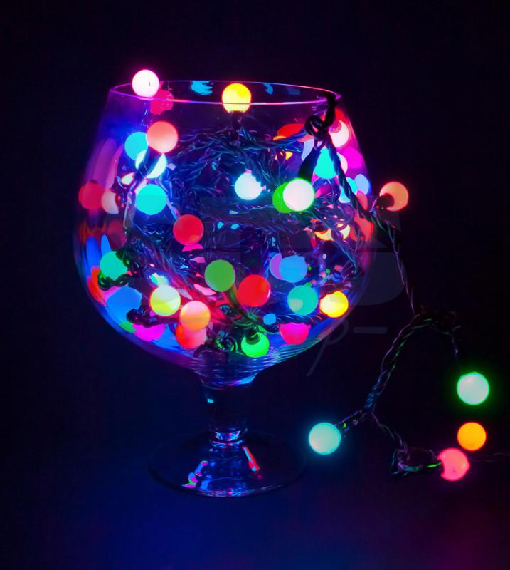Новогодняя гирлянда матовый шарик, не греется