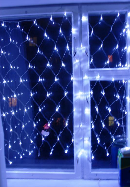 Гирлянда-сетка 1.5мх1.5м120 супер белых LED ламп