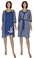 Ночная рубашка и халат из хлопка 02112 Fanny, р.р.44-54
