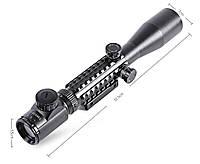 Оптический прицел 3-9x40EG, переменная кратность, подсветка сетки, универсальное крепление 11/21мм в комплекте, фото 1
