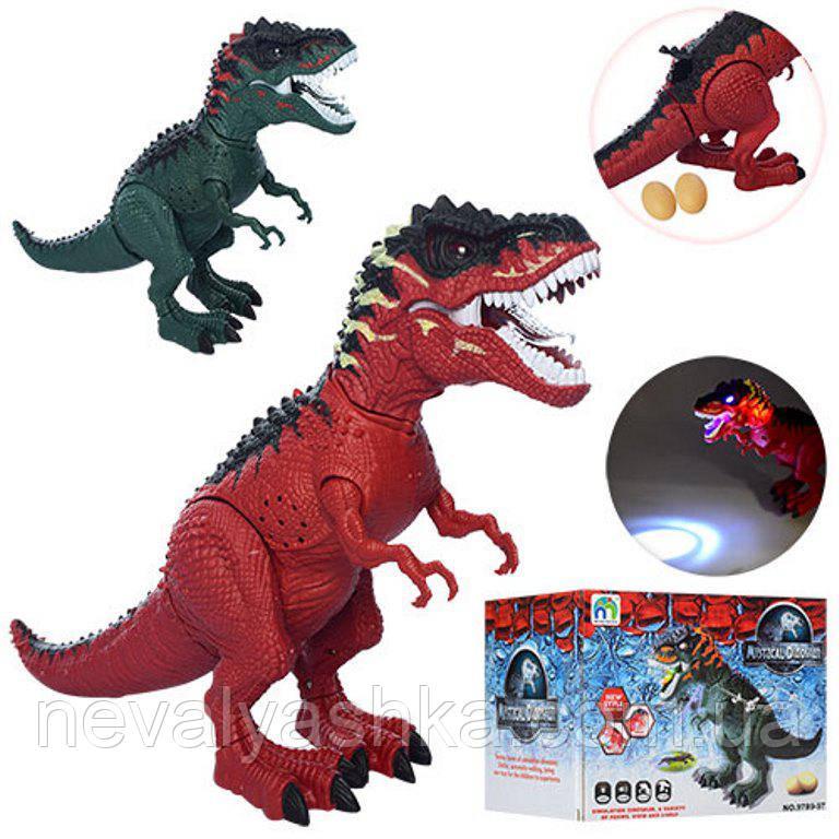 Динозавр ходит, несет яйца, музыкальный, проектор светится, 9789-97, 007869