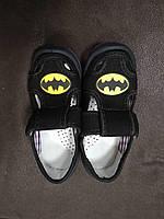 Тапочки-туфельки Бетмен 25-30/супинатор, кожанная стелька
