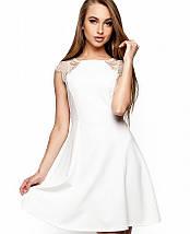 Расклешенное платье без рукавов с кружевом на плечах (Скоттиkr), фото 3