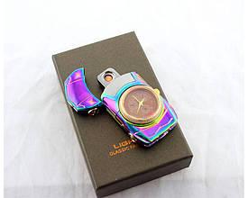Спіральна USB запальничка з годинником 813 XZ