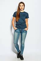 Джинсы женские рваные коленки 928K001 (Светло-синий)