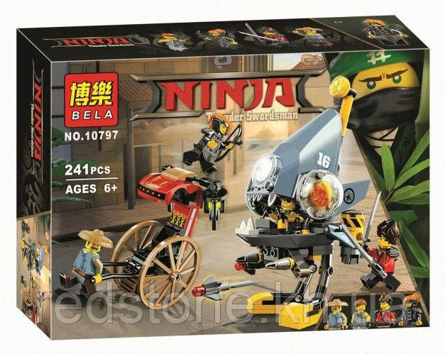 Конструктор Bela 10797 Ниндзяго Атака Пираньи (аналог Lego Ninjago Movie 70629)