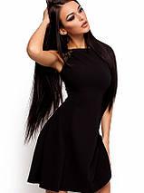 Расклешенное платье без рукавов с кружевом на плечах (Скоттиkr), фото 2