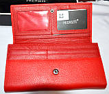 Женский черный кошелек из натуральной кожи Prensiti на кнопке, фото 3